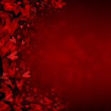 вектор Валентайн иллюстрации сердец предпосылки Стоковое Фото