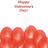 вектор Валентайн иллюстрации s сердца зеленого цвета dreamstime конструкции дня карточки стилизованный Красные воздушные шары на  Стоковое Фото