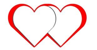 вектор Валентайн сердца искусства красный бесплатная иллюстрация