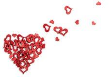 вектор Валентайн сердца искусства красный Стоковое Изображение RF