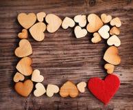 вектор Валентайн формы картины s сердца подарка рамки конструкции дня карточки безшовный Стоковые Изображения