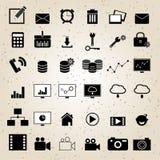 Вектор веб-дизайна установленный значками Стоковые Изображения
