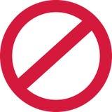 Вектор вектора знака запрета бесплатная иллюстрация