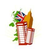вектор Великобритании символов london Стоковая Фотография