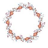 Вектор венка акварели флористический иллюстрация вектора