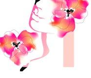 вектор весны девушки Стоковое Фото