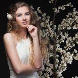 вектор весны иллюстрации девушки 10 eps Стоковое Фото