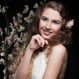 вектор весны иллюстрации девушки 10 eps стоковые фотографии rf
