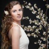 вектор весны иллюстрации девушки 10 eps Стоковая Фотография RF