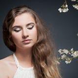 вектор весны иллюстрации девушки 10 eps стоковое фото rf