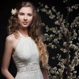 вектор весны иллюстрации девушки 10 eps стоковые изображения rf