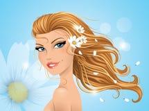 вектор весны иллюстрации девушки 10 eps Стоковые Изображения
