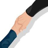 Вектор взгляд сверху рукопожатия корпоративного бизнеса Стоковое Изображение