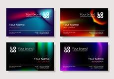 вектор визитной карточки multicolor Стоковое Изображение RF