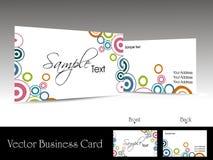 вектор визитных карточек корпоративный Стоковое Фото