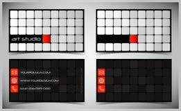 вектор визитных карточек Стоковое Фото