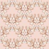 Вектор винтажной барочной картины безшовный в предпосылке стиля классического цветка графической для фона, шаблона, дизайна облож иллюстрация штока