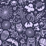Вектор винтажный хеллоуин безшовный Стоковое Фото
