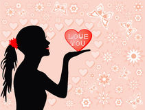 вектор влюбленности вы Стоковые Изображения RF