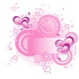вектор влюбленности знамени Стоковая Фотография