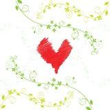 вектор влюбленности карточки Стоковые Изображения RF