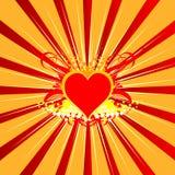 вектор влюбленности предпосылки Стоковое Изображение