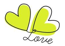 вектор влюбленности сердец Стоковые Изображения