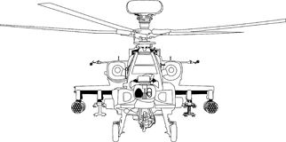 Вектор военной машины апаша Иллюстрация штока