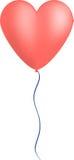 Вектор воздушного шара сердца Стоковые Изображения RF