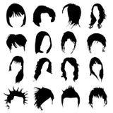 вектор волос конструкции установленный бесплатная иллюстрация