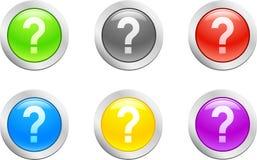 вектор вопросе о кнопки Стоковые Изображения