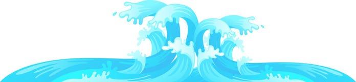 Вектор волны воды бесплатная иллюстрация