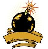 вектор времени иллюстрации бомбы знамени Стоковое Фото
