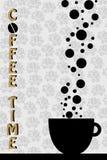 вектор времени кофе Стоковое фото RF