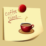 вектор времени примечания eps кофе Стоковое Фото