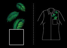 Вектор вышивки тропический Стоковые Фото