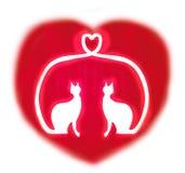 вектор влюбленности иллюстрации котов Стоковые Изображения