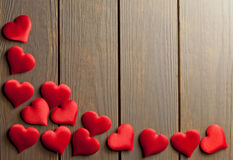 вектор влюбленности сердец предпосылки Стоковые Фотографии RF