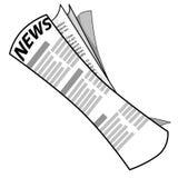 вектор газеты Стоковое Изображение