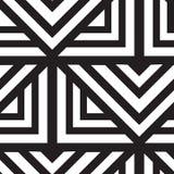 вектор геометрической картины безшовный Повторять абстрактные линии Стоковые Изображения RF