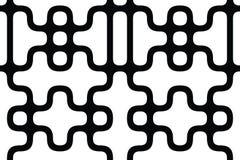 вектор геометрической картины безшовный Повторять абстрактные линии Стоковое Фото