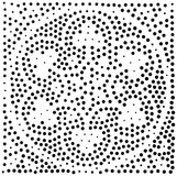 вектор геометрической картины безшовный Повторять абстрактные точки Стоковые Изображения
