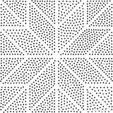 вектор геометрической картины безшовный Повторять абстрактные точки Стоковые Фотографии RF