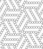 вектор геометрической картины безшовный Современная текстура круга, повторение Стоковое Изображение RF
