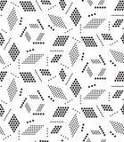 вектор геометрической картины безшовный Современная текстура круга, повторение Стоковые Фото