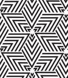 вектор геометрической картины безшовный Современная текстура треугольника, repe Стоковая Фотография RF