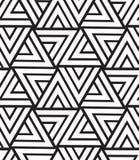 вектор геометрической картины безшовный Современная текстура треугольника, repe Стоковое Изображение RF