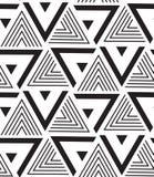 вектор геометрической картины безшовный Современная текстура треугольника, repe Стоковое фото RF