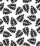 вектор геометрической картины безшовный Современное флористическое, текстура листьев Стоковые Изображения RF