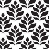 вектор геометрической картины безшовный Современное флористическое, текстура листьев Стоковая Фотография RF